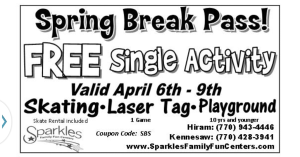 sparkles spring break pass