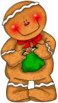 Transparent_Gingerbread_with_Green_Bag_PNG_Clipart