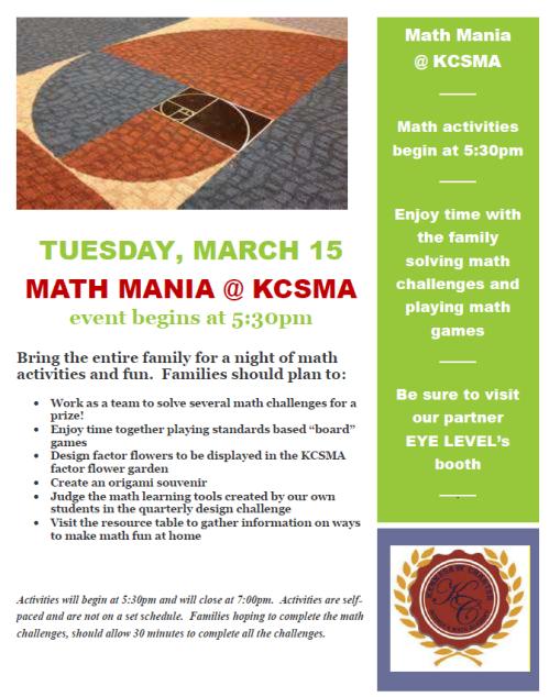 math mania night