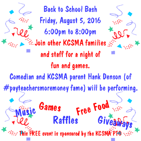 2016 back to school bash