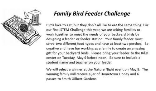 bird feeder challenge may 2017