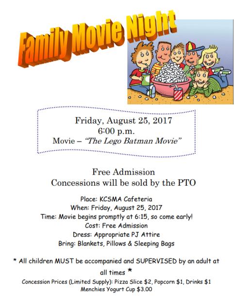 Family Movie Night Aug